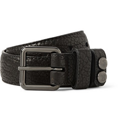 Parabellum Black 4cm Peacemaker Full-Grain Bison Leather Belt