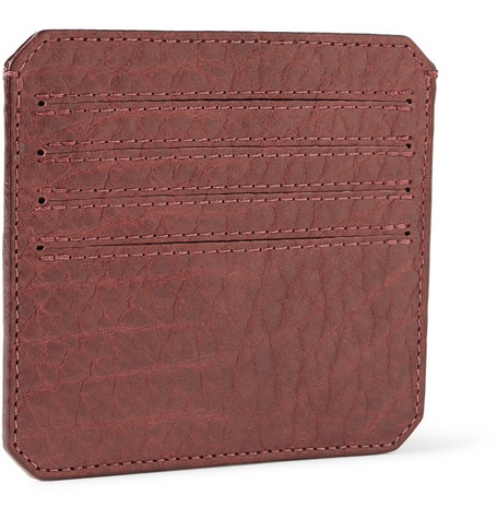 Parabellum Full-Grain Bison Leather Card Holder