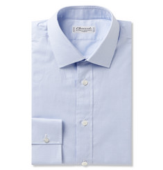 Charvet Blue Gingham Checked Cotton Shirt