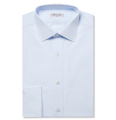 Charvet - Blue Slim-Fit Double Cuff Cotton-Poplin Shirt