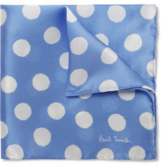 Paul Smith Shoes & Accessories Polka-dot Silk Pocket Square