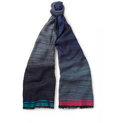 Paul Smith Shoes & Accessories Striped Lightweight Woven Scarf