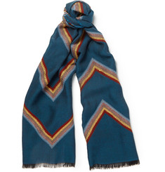Paul Smith Shoes & Accessories Zig-zag Woven Scarf