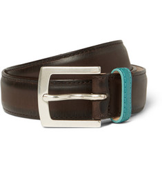 Paul Smith Shoes & Accessories Brown 3cm Leather Belt