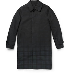 Band of Outsiders Mackintosh Dégradé-Check Bonded-Cotton Rain Coat