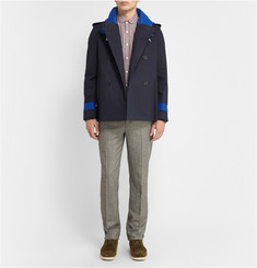 Band of Outsiders Mackintosh Bonded-Cotton Peacoat