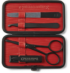 Czech & Speake Air Safe Leather-Bound Travel Manicure Set