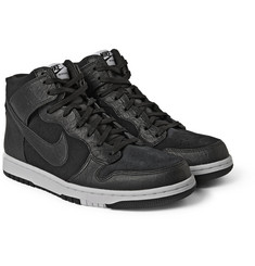Nike Nike Dunk CMFT Premium Leather and Suede High-Top Sneakers