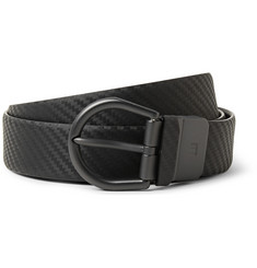 Dunhill 3cm Black Chassis Leather Belt