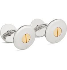 Alfred Dunhill Palladium and Gold-Plated Cufflinks