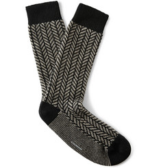Club Monaco Herringbone Cashmere-Blend Socks