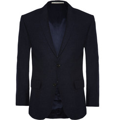 Club Monaco Navy Wright Slim-Fit Wool and Silk-Blend Blazer