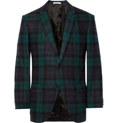 Club Monaco Wright Slim-Fit Black Watch Wool Blazer