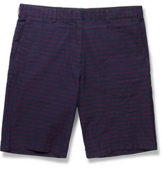 Club Monaco Striped Cotton Shorts