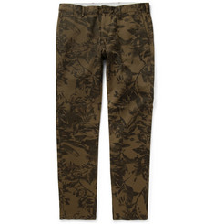 Club Monaco Paisley-Print Cotton Chinos