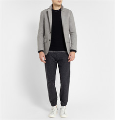 Club Monaco Seth Slubbed Cotton-Blend Trousers