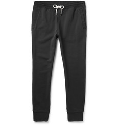 Club Monaco Woven-Trim Loopback Cotton Sweatpants