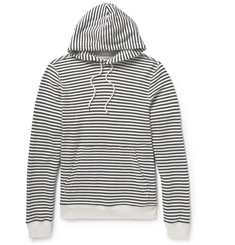 Club Monaco Striped Loopback Cotton-Jersey Hoodie