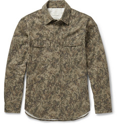 Club Monaco Printed Stretch-Cotton Overshirt