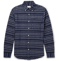 Club Monaco Slim-Fit Patterned Woven-Cotton Shirt