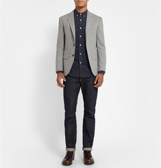 Club Monaco Slim-Fit Polka-Dot Corduroy Shirt