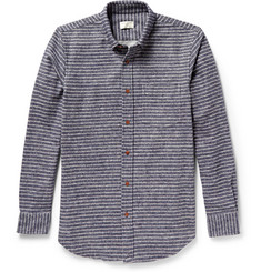 Club Monaco Striped Button-Down Collar Flannel Shirt