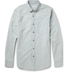 Club Monaco Button-Down Collar Cotton-Chambray Shirt