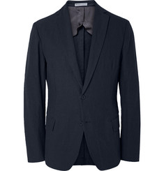 Bottega Veneta Crinkled Cotton and Ramie-Blend Blazer