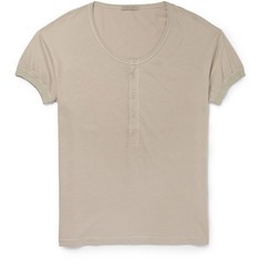 Bottega Veneta Cotton-Blend Jersey Henley T-shirt