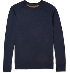 Marc by Marc Jacobs Contrast-Back Silk, Cotton and Cashmere-Blend Sweater