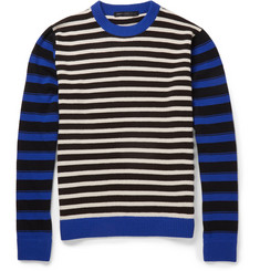 Marc by Marc Jacobs Striped Wool Crew Neck Sweater