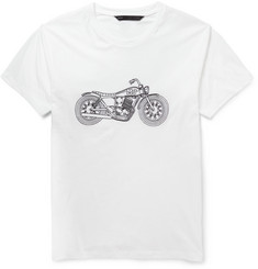 Marc by Marc Jacobs Motorcycle-Embroidered Cotton-Jersey T-Shirt