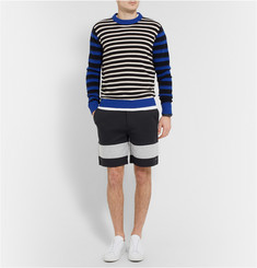 Marc by Marc Jacobs Striped Cotton-Blend Shorts
