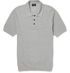 Jil Sander Textured Wool-Blend Polo Shirt