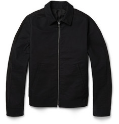 Balenciaga Textured-Cotton Bomber Jacket
