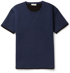 Balenciaga Bonded Cotton-Jersey Short-Sleeved Sweatshirt