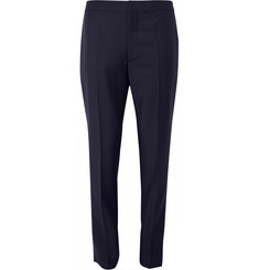 Balenciaga Slim-Fit Elasticated-Cuff Wool and Mohair-Blend Trousers