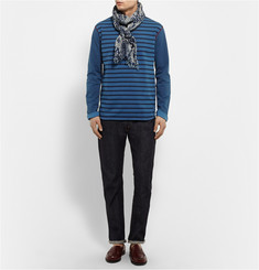 Junya Watanabe Garment-Dyed Striped Cotton-Jersey T-Shirt