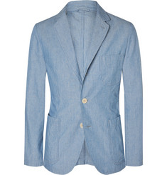 Aspesi Slim-Fit Striped Cotton Blazer