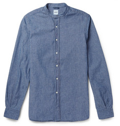 Aspesi Cotton Grandad-Collar Shirt