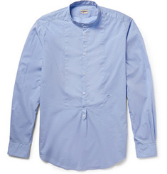 Massimo Alba Washed Cotton-Voile Henley Shirt