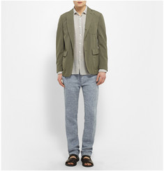 Massimo Alba Slim-Fit Linen-Tweed Trousers