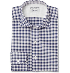 Drake's Gingham Checked Cotton Shirt