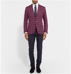 MP di Massimo Piombo Red Checked Linen Blazer