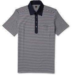 MP Massimo Piombo Striped Cotton-Piqué Polo Shirt