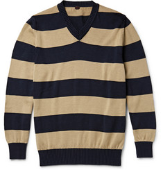 MP Massimo Piombo Striped Knitted Cotton Sweater