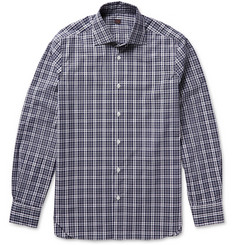 MP Massimo Piombo Checked Cotton-Poplin Shirt