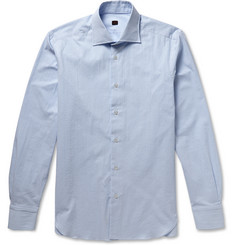 MP Massimo Piombo Slim-Fit Gingham Seersucker Cotton Shirt