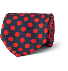 MP Massimo Piombo Polka-Dot Silk-Faille Tie