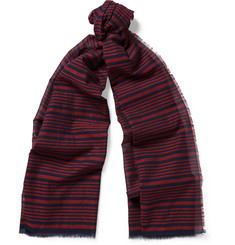 MP Massimo Piombo Striped Cotton Scarf